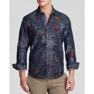 ROBERT GRAHAM Lake Wanaka Floral Denim Shirt